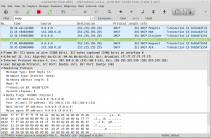 wireshark DHCP request