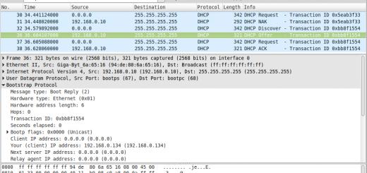 wireshark DHCP request
